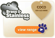 Find the right Brass & Stainless Tags for your pet