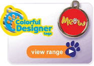 Find the Colourful Designer Tags for your pet