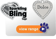 Find the right Sparkling Bling Tags for your pet
